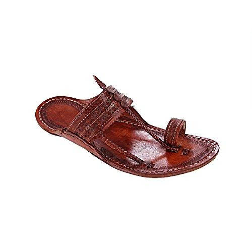 original kolhapuri chappal Stunning look red for brown punching design for red women slipper sandal B0784ZR3RP Parent 37e426