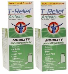 T-Relief Arthritis Tablets, 100 Tablets (2 Pack)