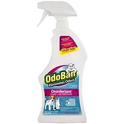 OdoBan Cotton Breeze Scent Disinfectant Fabric & Air Freshener, 27 fl oz (1)