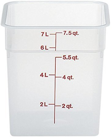 Cambro 8SFSPP190 CamSquare Food Container 8 qt., Case of 6