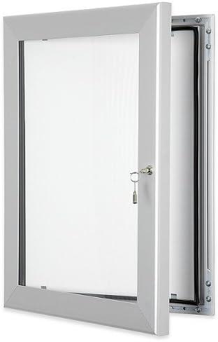 Tablón de anuncios con puerta con cerradura, A1 (8 x A4), sellado impermeable, sin corcho, para uso en interiores o exteriores: Amazon.es: Oficina y papelería