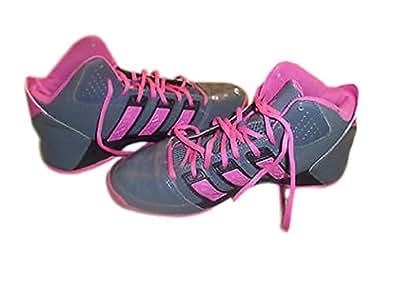 adidas Women's Commander TD 3 Basketball Shoe,Dark Onix/Bloom,8 M US