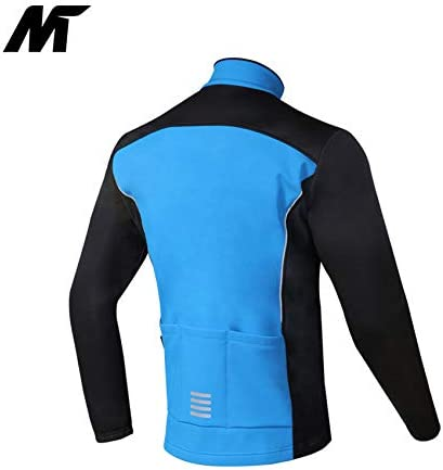 Mysenlan Mens Windproof Fleece Thermal Outdoor Sports Jacket Warm Windbreaker Cycling Coat Bicycle Running Outwear
