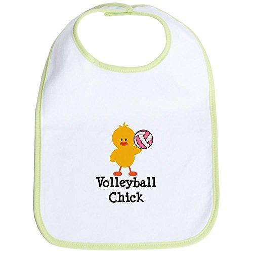 CafePress Volleyball Chick Bib - Standard Kiwi