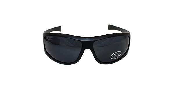 Amazon.com: Unisex Wrap Negro alrededor de marco UV400 gafas ...