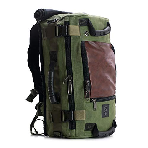 - SOVRN Republic Canvas Material Duffel Bag Backpack 30L Sovrn Drifter, Olive