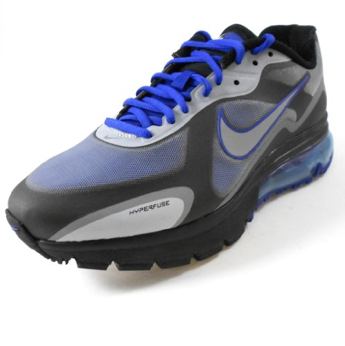 Nike Air Max Alpha 2011+ Mens Running Shoe [454347-401] Drenched Blue/Metallic Silver-Black Mens Shoes 454347-401-12