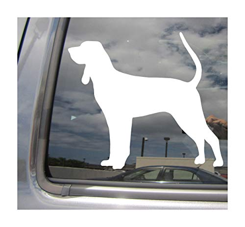 Right Now Decals - Coonhound Dog - Scent Hound Coon Hunting American Pure Breed Purebred - Cars Trucks Moped Helmet Hard Hat Auto Automotive Craft Laptop Vinyl Decal Store Window Wall Sticker 01604 - Dog Breed Coonhound