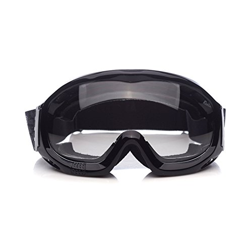 Goggle Bands ('Fit Over Glasses' Anti-fog Riding Goggles with Sponge Liner Adjustable Elastic Headband (Clear Lens Normal Vision))