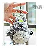 Bamboo's Grocery Totoro Plush with Keychain,Best Gift for Children, My Neighbor Totoro Totoro Studio Ghibli (gray)