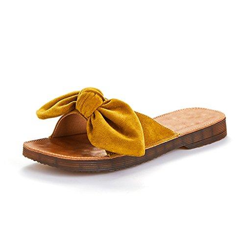 Cabeza 8 tamaño Planas Jianxin Almohadilla Yardas Cuadrada Eu 35 Casual us Amarillo 39 6 Arco Zapatilla uk Verano Sandalias De Mujer Masaje Zapatillas 39 Superior qUtIBt