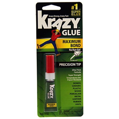 Elmers Advanced Formula Krazy Glue (Krazy Glue KG48448MR Instant Crazy Glue Advanced Formula Gel 0.14-Ounce by Krazy Glue)