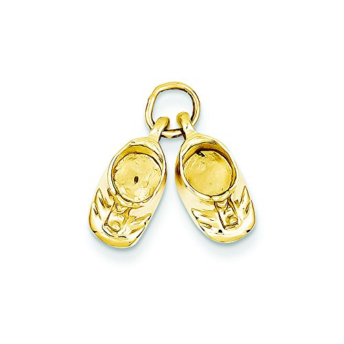 14k Polished Baby Shoes Charm ()