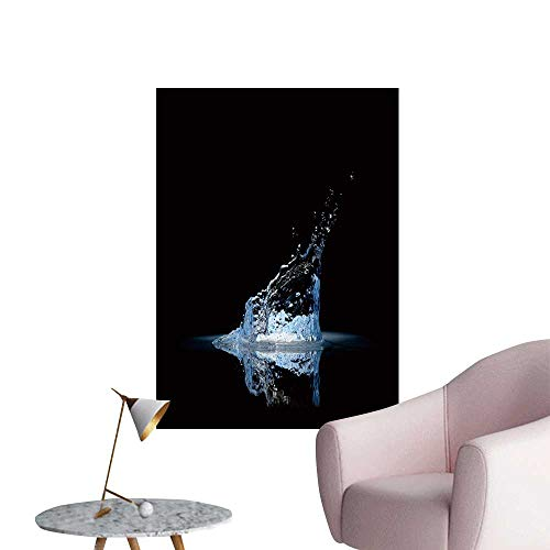 SeptSonne Wall Stickers for Living Room Water splaash on Black Vinyl Wall Stickers Print,32