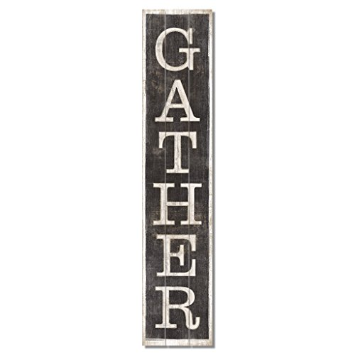 American Woodcrafters Gather Vertical Pine Pallet Sign, 36 x 7.5 inches