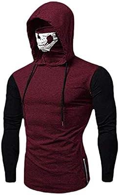 GAGA Mens Fashion Coats Shirt Pullover Long-Sleeve Hooded Sweatshirts Blouses