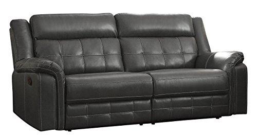 Amazon Com Homelegance Keridge 85 Reclining Sofa Gray