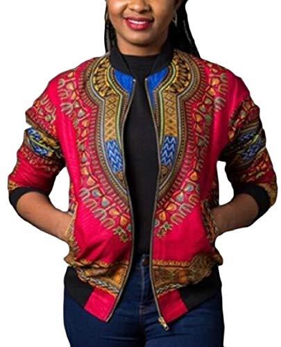security 2 Coat African Bomber Short Print Women's Dashiki Tribal Jacket 4rZ4qw