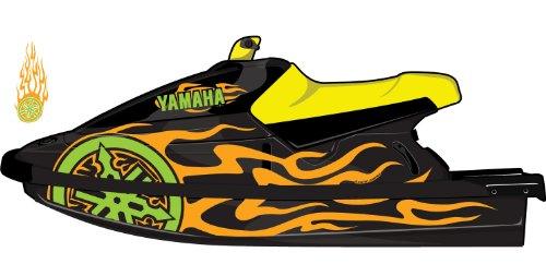 Exotic Signs Yamaha Blaster 1993-1997 2 Color Graphic kit - EY0003BL (063 Lime-Tree Green / 035 Pastel Orange)