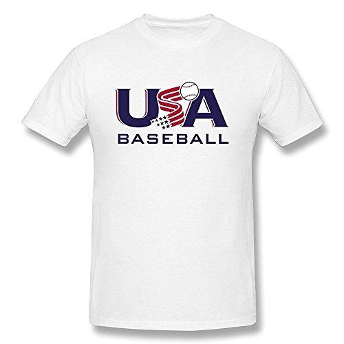 AOPO O-Neck USA Baseball Team Logo Tee Shirts For Men (Robin Custome)
