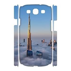 Custom Cover Case with Hard Shell Protection for Samsung Galaxy S3 I9300 3D case with Dubai Burj Khalifa Tower lxa851555