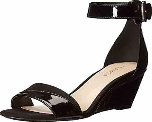 Nine West Women's Prettysis Patent Wedge Sandal