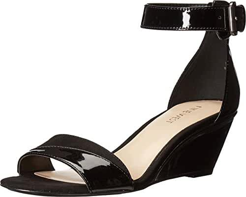 Nine West Women's Prettysis Patent Wedge Sandal