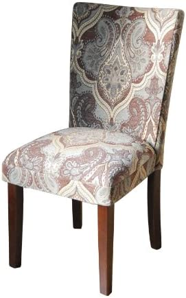 Paisley Fabric Dining Room Chairs Add Style to Your Dining Room Furniture. A Straight Back Upholstered Chair Turns Kitchen Dining Chairs Into Elegant Seating. Get Not One Parsons Chair