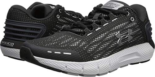 UNDER ARMOUR Men's Charged Rogue Running Shoe, Jet Gray (100)/White, 10
