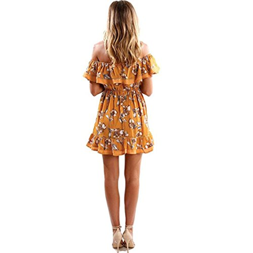 Letter Women Ladies Off Shoulder Butterfly Robe drapée Short Elegant Print Sundress