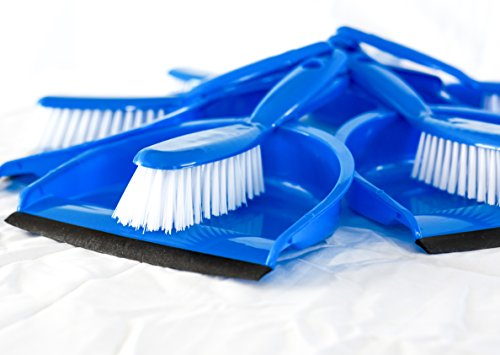 FI Broom and Dustpan Combo Set 6 Pack Bulk Buy, Perfect for Home or Office Dusting and Cleaning,