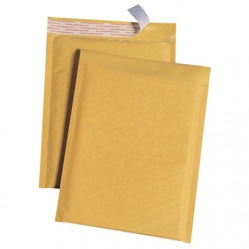 #0 6.5x10'' KRAFT BUBBLE MAILER PADDED ENVELOPES-100 qty by ESUPPLYSTORE