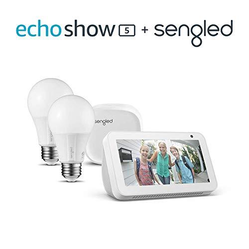 Echo Show 5 Sandstone with Sengled 2 pack starter kit
