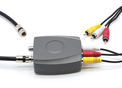 Video Cable Rca Composite A V To Rf Coax Coaxial
