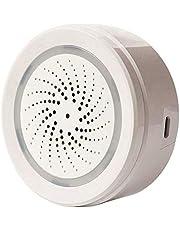 ECOOLBUY Smart WiFi Indoor Buitentemperatuur Hygrometer Vochtigheidssensor Alarm Compatibel met Alexa voor Thuis Huis Kas Kelder Garage Gecontroleerd door Smart Phone App