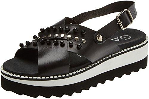 Gadea 41002, Sandali Punta Aperta Donna Nero (Soft Negro Negro)