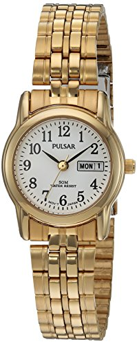 Pulsar Women's PXU040X Analog Display Japanese Quartz Gold Watch