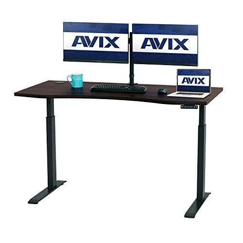 AVIX-Standing-DeskElectric-Height-Adjustable-Desk30x60-28-48-Stand-up-Desk-Home-Office-Desks-Walnut