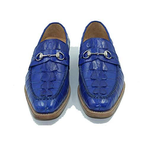 Uomo High in Pelle End Testa Absorption da Shock Business Scarpe Fashion Blue Casual Custom Uomo Rotonda CgSqwwX