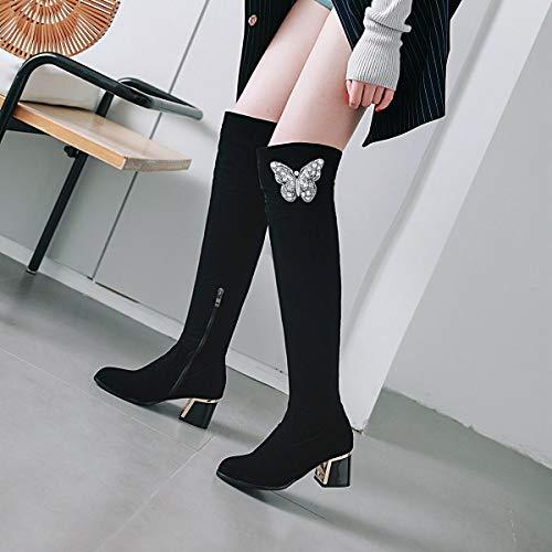 Stivali in moda e la stivali alti donne donne alti stivali autunno e nero   f8626b