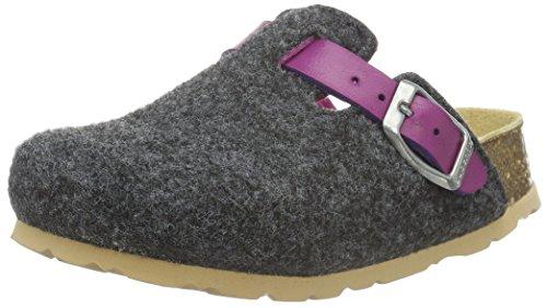 Superfit FUSSBETTPANTOFFEL 700112, Mädchen Pantoffeln, Grau (STONE KOMBI 06), 34 EU