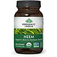 ORGANIC INDIA Neem Supplement, 90 Veg Capsules