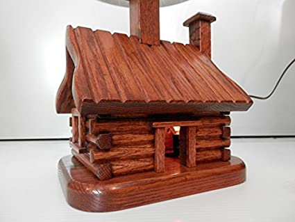 Jeep,Great Room,Office,Cabin Log Home Small Table Lamp