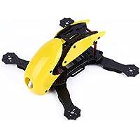 YKS DIY Robotcat Pure Carbon Fiber Mini 270 Quadcopter Frame Kit w/ Hood Cover for FPV Racing Quadcopter Parts (Yellow)
