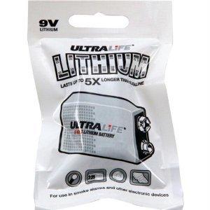 Long Life 9v Lithium Battery - Ultralife Long-Life 9V Lithium Battery-U9VL-JPFP6JN-9V Batteries