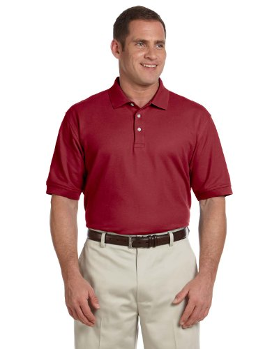 - Devon & Jones Men's Pima Pique Polo Shirt, Burgundy, XX-Large