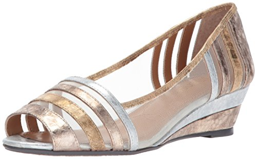 J.Renee Women's Florentina Pump, Metallic/Multi, 10 Medium US
