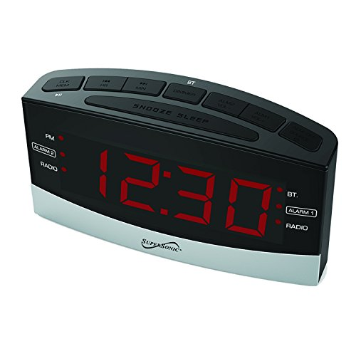 clock radio supersonic digital bluetooth am fm radio alarm clock radio 11street malaysia. Black Bedroom Furniture Sets. Home Design Ideas