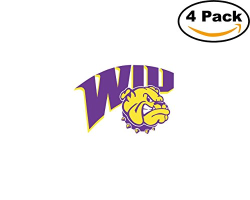 Western Illinois Leathernecks 4 Stickers 4X4 inches Car Bumper Window Sticker Decal