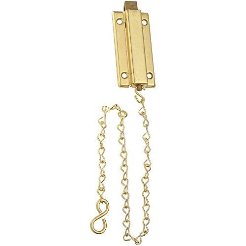 (National Hardware N155-762 V862 Reversible Chain Bolt in Brass)